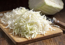 Chopped cabbage strips Stock Photos