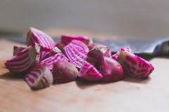 Chopped Candy Cane Beet Royalty Free Stock Images