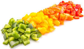 Chopped Capsicum VI Stock Image