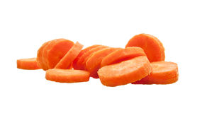 Chopped Carrot. Some Pieces of Chopped Carrot stock images