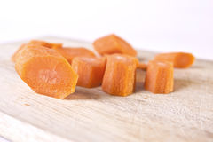 Chopped Carrot Chunks Stock Images