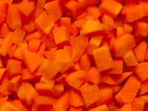 Chopped carrots Royalty Free Stock Images