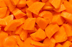 Chopped carrots Royalty Free Stock Photos