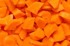 Chopped carrots Royalty Free Stock Photos