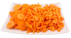 Chopped Carrots In Plate I Royalty Free Stock Images