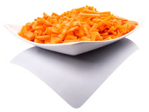 Chopped Carrots In Plate VIII Stock Photos