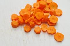 Chopped carrots Royalty Free Stock Photo