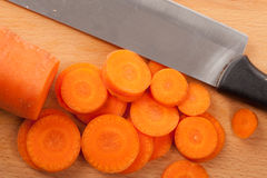Chopped carrots Royalty Free Stock Image