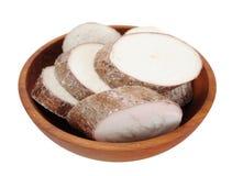Chopped cassava Stock Image