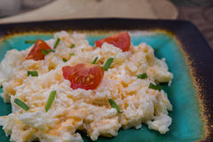 Chopped cauliflower with cheese and tomatoes Royalty Free Stock Photography