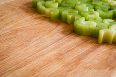 Chopped celery pieces Stock Images