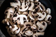 Chopped mushrooms Royalty Free Stock Photos