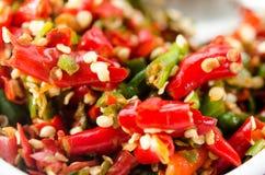 Chopped chili Stock Photos