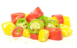 Chopped chilli peppers Royalty Free Stock Photos