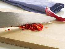 Chopped Chillies Stock Photo