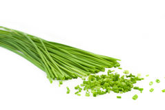 Chopped chive Stock Photo