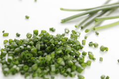 Chopped Chives Royalty Free Stock Photography