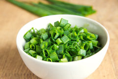 Chopped chives Stock Photography