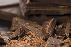 Chopped chocolate Stock Images