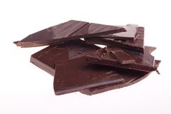 Chopped chocolate Royalty Free Stock Photography