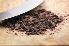 Chopped chocolate royalty free stock image
