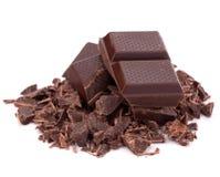 Chopped chocolate  bars Stock Image