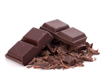 Chopped chocolate  bars Royalty Free Stock Photos