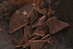 Chopped chocolate Royalty Free Stock Photos