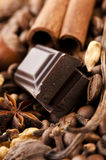 Chopped chocolate Royalty Free Stock Image