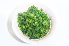 Chopped cilantro Royalty Free Stock Photo