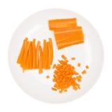 Chopped cozinhou a cenoura Imagens de Stock Royalty Free