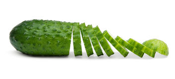 Chopped cucumber Royalty Free Stock Image