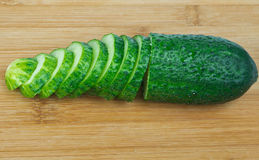 Chopped cucumber Royalty Free Stock Images