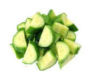 Chopped cucumber Stock Images