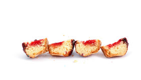 Chopped Cupcake filled with sweet fruit jelly Stock Photo