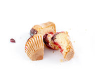Chopped Cupcake filled with sweet fruit jelly Stock Images