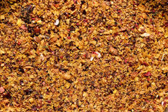 Chopped dried fruit. Royalty Free Stock Photo
