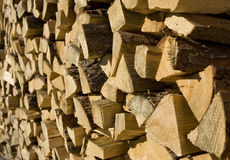 Chopped fire wood. Pile of chopped fire wood Royalty Free Stock Photography