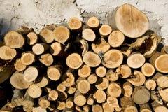 Chopped fire wood. Pile of chopped fire wood Stock Photo