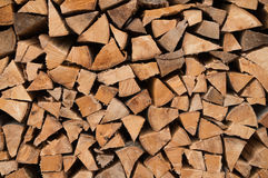 Chopped fire wood Royalty Free Stock Photos