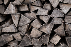 Chopped fire wood Stock Photos