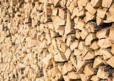 Chopped Fire Wood in a Stack Stock Image
