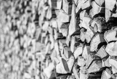 Chopped Fire Wood in a Stack Royalty Free Stock Image