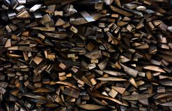 Chopped firewood background. Conceptual ecology fuel imagery Royalty Free Stock Images