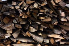 Chopped firewood background. Conceptual ecology fuel imagery Royalty Free Stock Photos