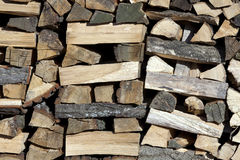 Chopped firewood Stock Photo