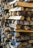 Chopped firewood logs in a pile Royalty Free Stock Photos