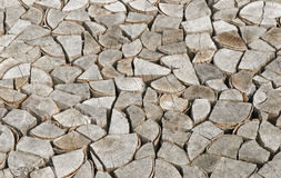 Chopped firewood logs Royalty Free Stock Images