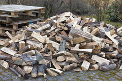 Chopped firewood on a pile Royalty Free Stock Photos