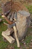 Chopped firewood Stock Photography